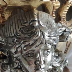 Antigüedades: CENTRO DE MESA CON PEANA DE MÁRMOL. Lote 268962059