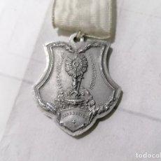 Antigüedades: MEDALLA JUEVES EUCARISTICOS 1907, REPARACION, CONMEMORACION, REVERSO ULTIMA CENA, MEDIDAS 7,5 X 4 CM. Lote 268994139