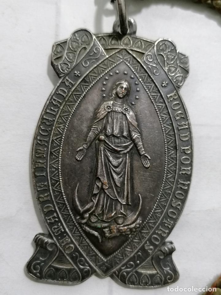 Antigüedades: MEDALLA, JUVENTUD PARROQUIAL DEL BUEN PASTOR - OH MADRE INMACULADA ROGAD POR NOSOTROS - Foto 2 - 268997204