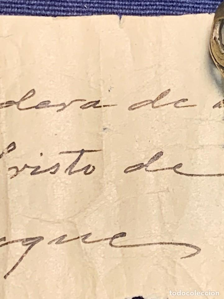 Antigüedades: RELIQUIA RELIGIOSA MADERA PAPEL TROZO DE DEDO DEL SANTO CRISTO DE TRIJUEQUE S XIX - Foto 3 - 268998734