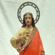 Antigüedades: ANTIGUO JESÚS SAGRADO CORAZÓN OLOT. Lote 269008984