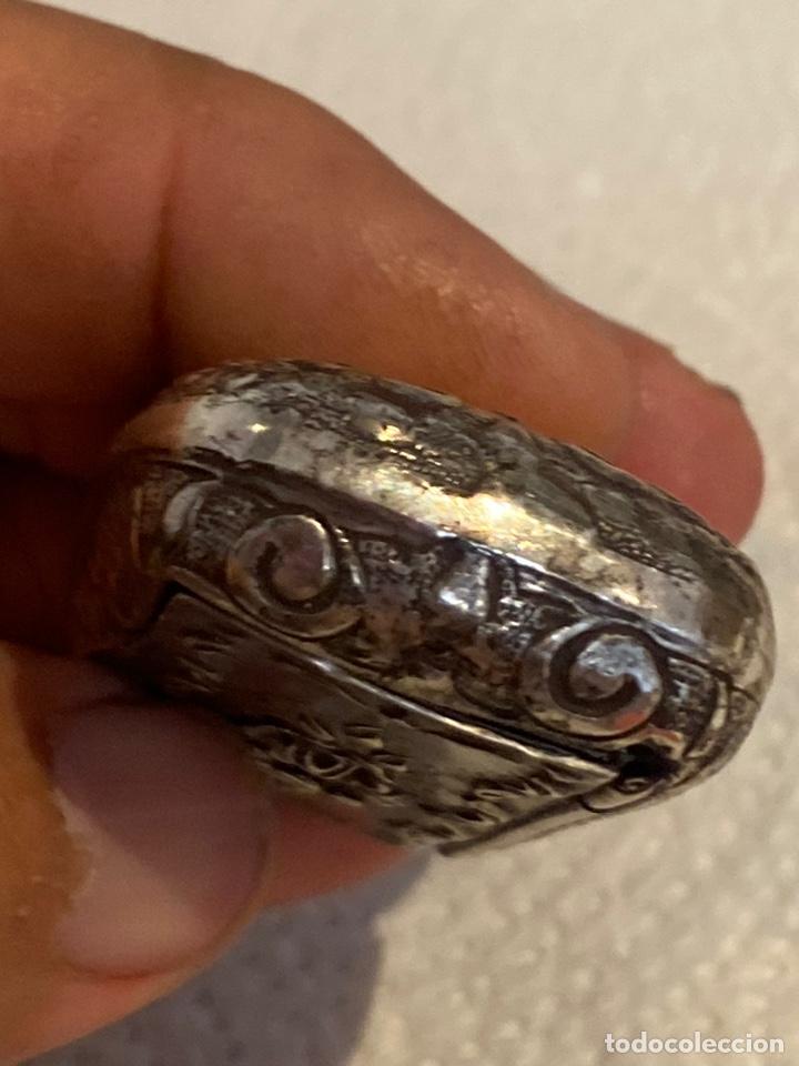 Antigüedades: Preciosa cajita ( joyero ) de plata antigua tallada . Siglo XVIII . Ver fotos - Foto 11 - 269013604