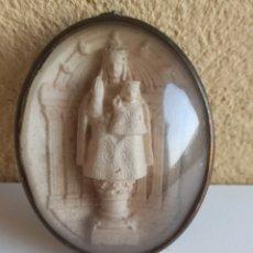 Antigüedades: RELICARIO TALLADO PIEDRA ESPUMA DE MAR SIGLO. XIX. Lote 269017244