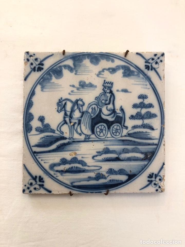 AZULEJO DE DELFT SIGLO XVIII (Antigüedades - Porcelana y Cerámica - Holandesa - Delft)