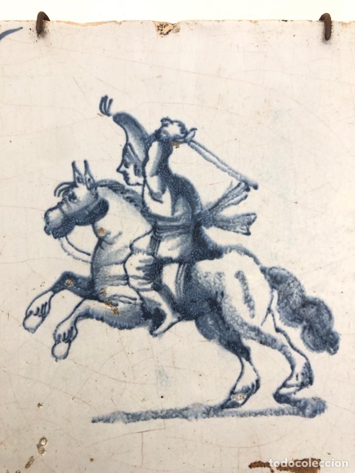 Antigüedades: Azulejo de Delft siglo XVIII. - Foto 2 - 269050723