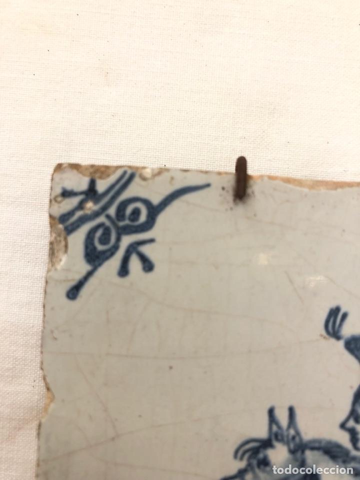 Antigüedades: Azulejo de Delft siglo XVIII. - Foto 3 - 269050723