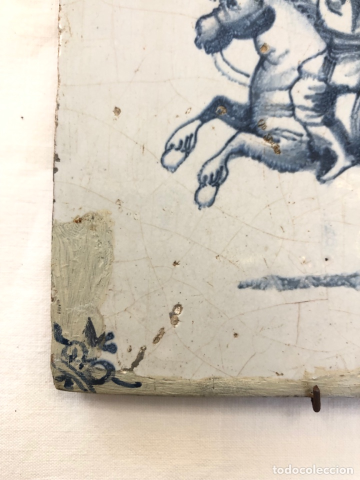 Antigüedades: Azulejo de Delft siglo XVIII. - Foto 4 - 269050723
