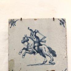 Antigüedades: AZULEJO DE DELFT SIGLO XVIII.. Lote 269050723