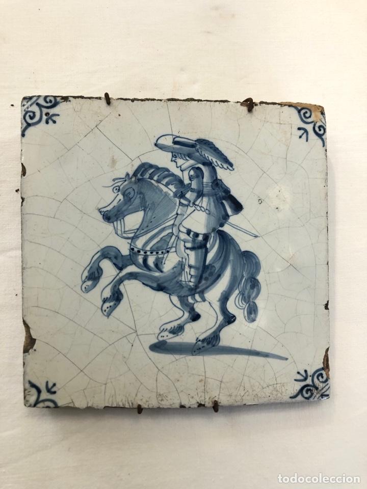 Antigüedades: Azulejo de Delft siglo XVIII. - Foto 2 - 269051013