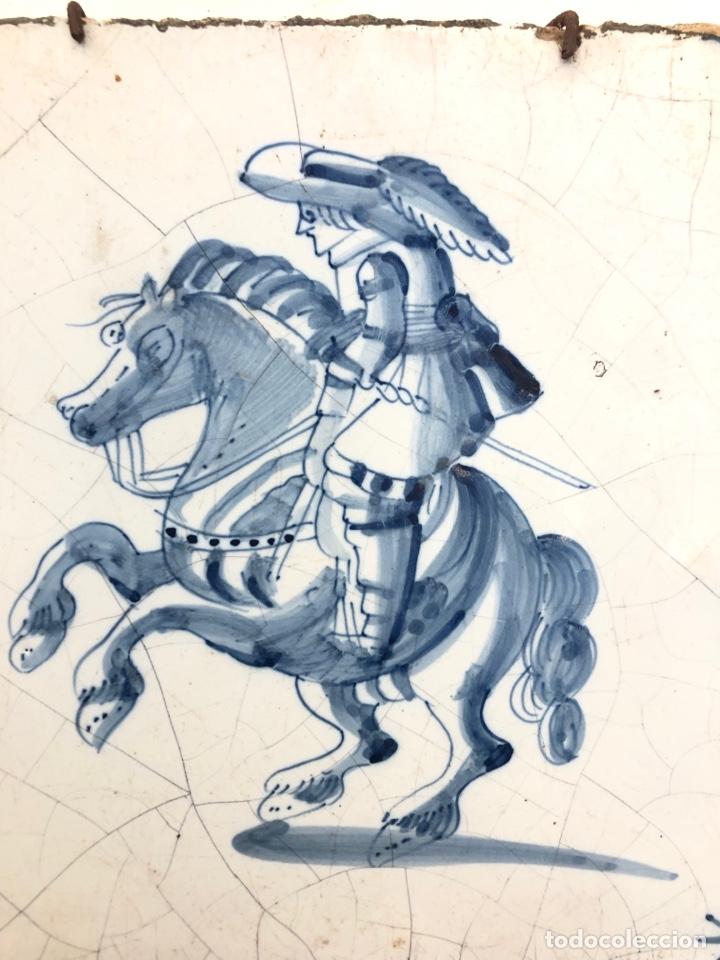 Antigüedades: Azulejo de Delft siglo XVIII. - Foto 3 - 269051013