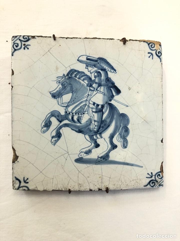AZULEJO DE DELFT SIGLO XVIII. (Antigüedades - Porcelana y Cerámica - Holandesa - Delft)