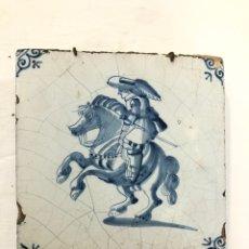 Antigüedades: AZULEJO DE DELFT SIGLO XVIII.. Lote 269051013