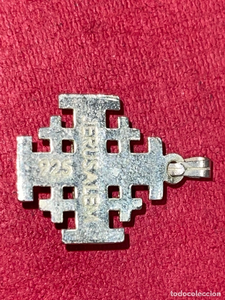Antigüedades: Bonita cruz de plata de Jerusalen. Plata contrastada - Foto 5 - 269059308