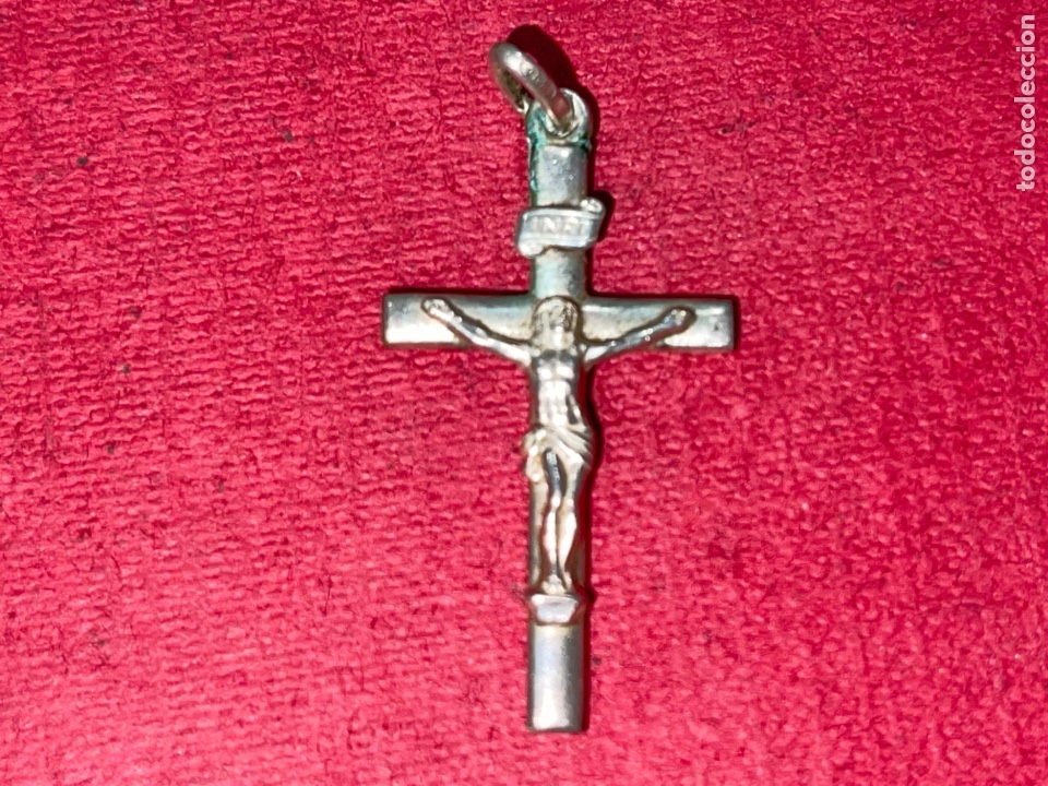 Antigüedades: Bonito crucifijo en plata de Ley - Foto 4 - 269059498