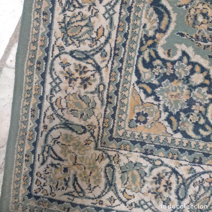 Antigüedades: gran alfombra 158 x 125 cm ideal capilla virgen besamanos cofradia semana santa altar - Foto 2 - 269071503