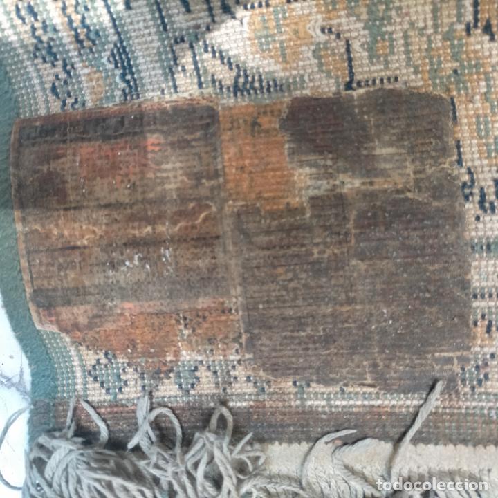 Antigüedades: gran alfombra 158 x 125 cm ideal capilla virgen besamanos cofradia semana santa altar - Foto 7 - 269071503