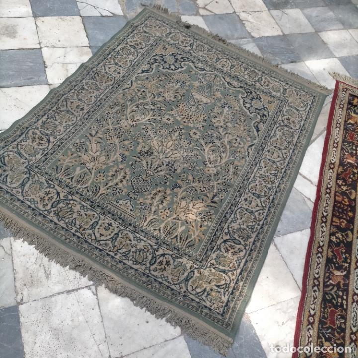 Antigüedades: gran alfombra 158 x 125 cm ideal capilla virgen besamanos cofradia semana santa altar - Foto 12 - 269071503
