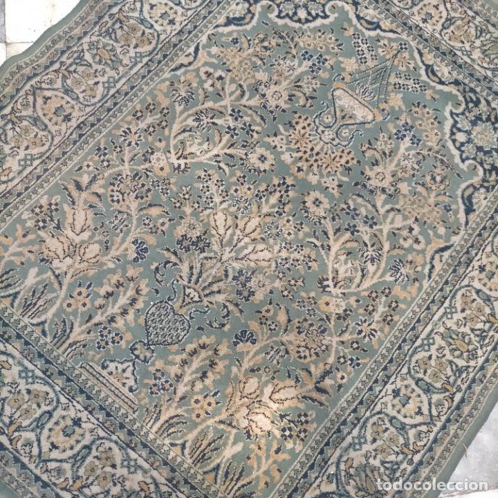 Antigüedades: gran alfombra 158 x 125 cm ideal capilla virgen besamanos cofradia semana santa altar - Foto 13 - 269071503