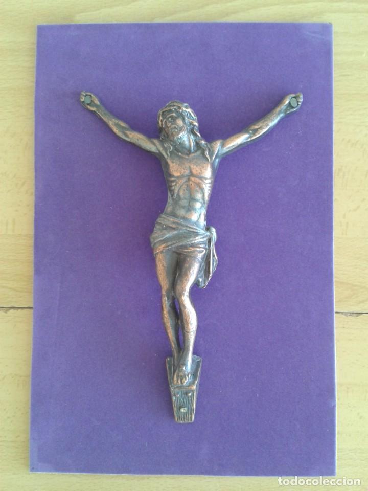 Antigüedades: ANTIGUO CRISTO CRUCIFICADO COBRE JESUCRISTO - Foto 2 - 269082743