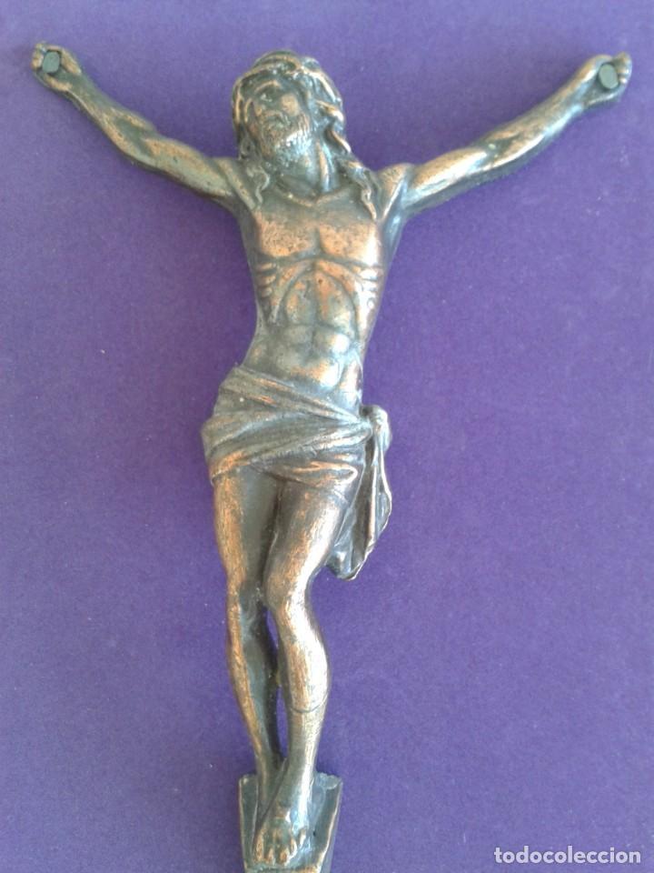 Antigüedades: ANTIGUO CRISTO CRUCIFICADO COBRE JESUCRISTO - Foto 3 - 269082743