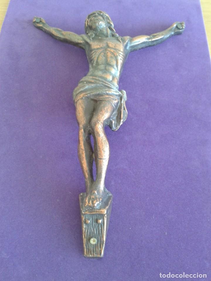 Antigüedades: ANTIGUO CRISTO CRUCIFICADO COBRE JESUCRISTO - Foto 4 - 269082743