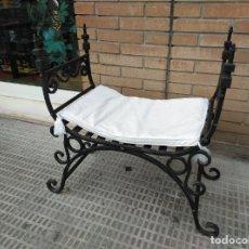 Antigüedades: BRUTAL BANQUETA OTOMANA EN FORJA MUY PESADA.. Lote 269091613