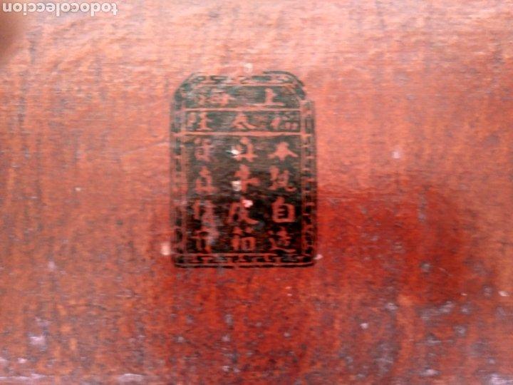Antigüedades: BAÚL CHINO DE PIEL LACADA EN ROJO. Pp. S.XX. - Foto 4 - 269097998