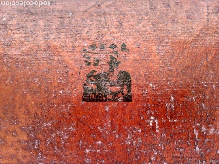 Antigüedades: BAÚL CHINO DE PIEL LACADA EN ROJO. Pp. S.XX. - Foto 5 - 269097998