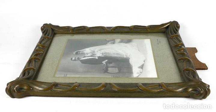 Antigüedades: MARCO MODERNISTA 37X46CM. LUZ: 30X38CM. EN BUEN ESTADO. - Foto 5 - 269161443