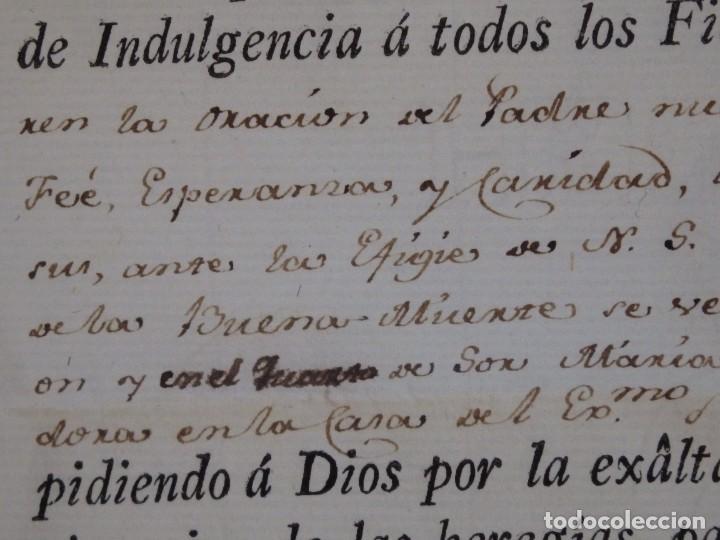 Antigüedades: Indulgencia. Año 1802. Por Antonio, Cardenal de Sentmanat, Patriarca de las Idias. Mide 30 x 21 cm. - Foto 4 - 269166053