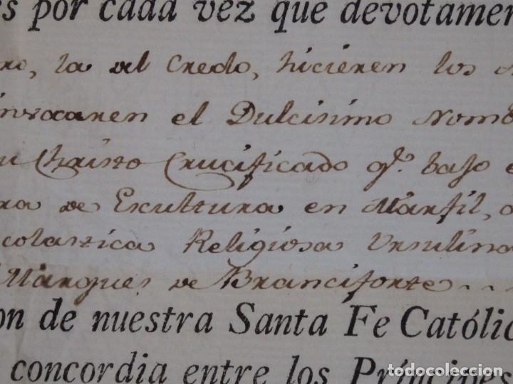 Antigüedades: Indulgencia. Año 1802. Por Antonio, Cardenal de Sentmanat, Patriarca de las Idias. Mide 30 x 21 cm. - Foto 5 - 269166053