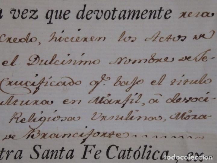 Antigüedades: Indulgencia. Año 1802. Por Antonio, Cardenal de Sentmanat, Patriarca de las Idias. Mide 30 x 21 cm. - Foto 6 - 269166053