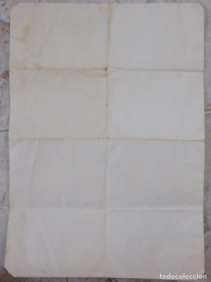 Antigüedades: Indulgencia. Año 1802. Por Antonio, Cardenal de Sentmanat, Patriarca de las Idias. Mide 30 x 21 cm. - Foto 10 - 269166053