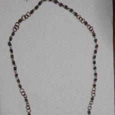 Antiguidades: RARO ROSARIO, SIMIL FILIGRANA, METAL. Lote 269175478