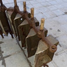 Antigüedades: CANJILÓN ARCADUZ CONJUNTO DE CONTRAMARCHA NORIA MUY ANTIGUOS // FORMATO ALARGADO ETNOGRAFÍA. Lote 269175858