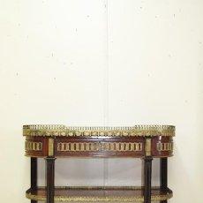 Antigüedades: MUEBLE ANTIGUO APARADOR DE MADERA Y BRONCE ESTILO IMPERIO. Lote 269188843