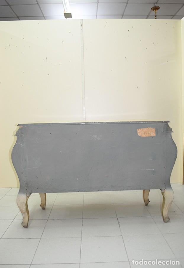 Antigüedades: CÓMODA ANTIGUA DE MADERA PINTADA A MANO - Foto 14 - 269194493