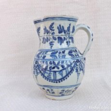 Antigüedades: JARRA DE CERÁMICA DE TALAVERA, SELLADA - EHNCHE (HENCHE) - VIRGEN DEL PRADO. Lote 269208953