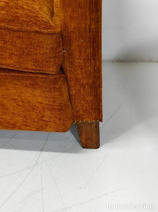Antigüedades: Decorativo Tresillo - Sofá y Sillones - Tapicería Perfecta - Vintage - Años 50 - Foto 4 - 269220523