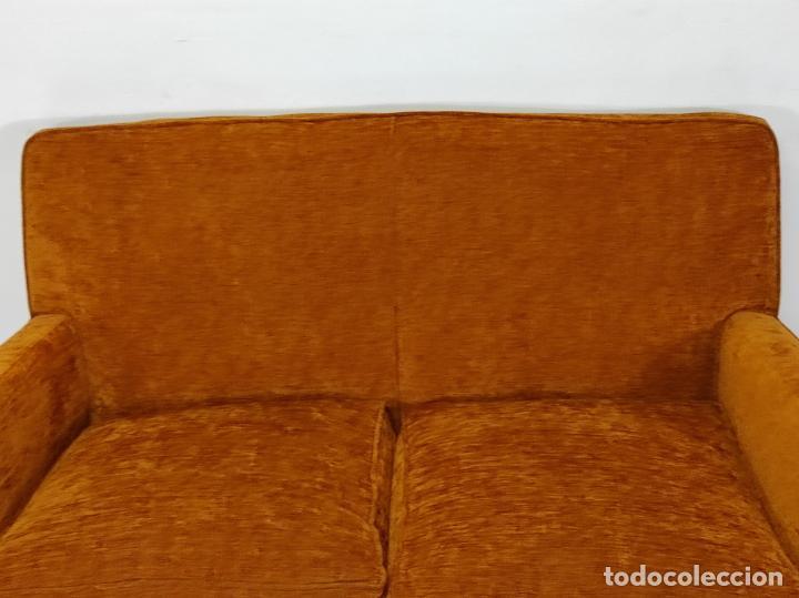 Antigüedades: Decorativo Tresillo - Sofá y Sillones - Tapicería Perfecta - Vintage - Años 50 - Foto 8 - 269220523