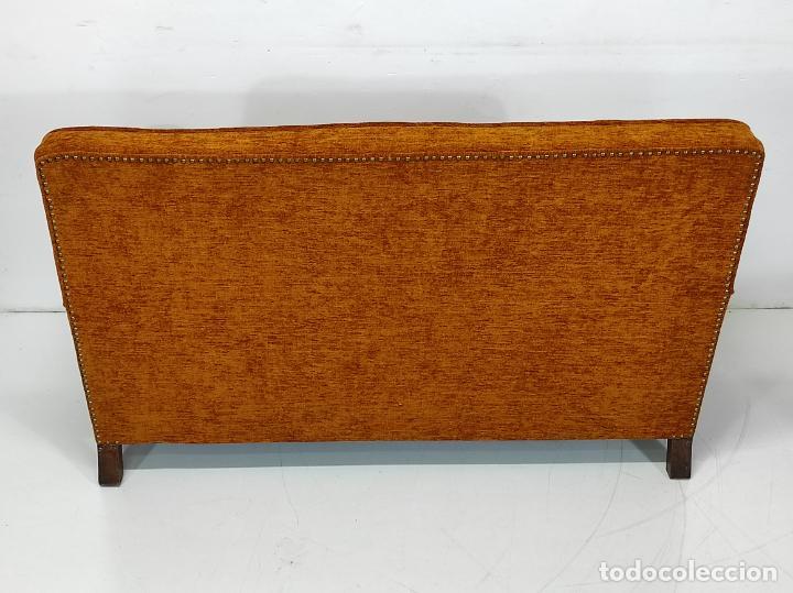 Antigüedades: Decorativo Tresillo - Sofá y Sillones - Tapicería Perfecta - Vintage - Años 50 - Foto 14 - 269220523