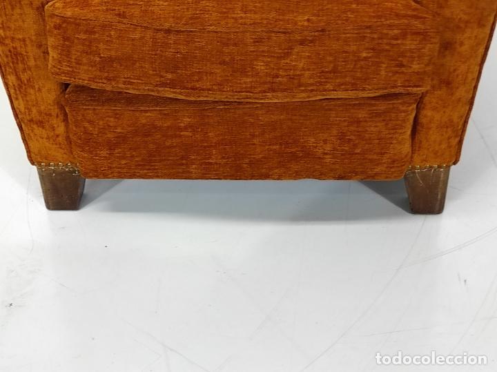 Antigüedades: Decorativo Tresillo - Sofá y Sillones - Tapicería Perfecta - Vintage - Años 50 - Foto 23 - 269220523