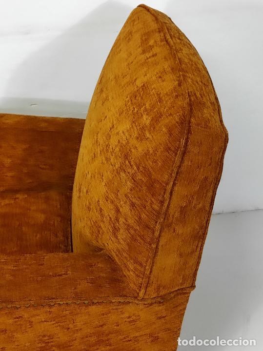 Antigüedades: Decorativo Tresillo - Sofá y Sillones - Tapicería Perfecta - Vintage - Años 50 - Foto 28 - 269220523