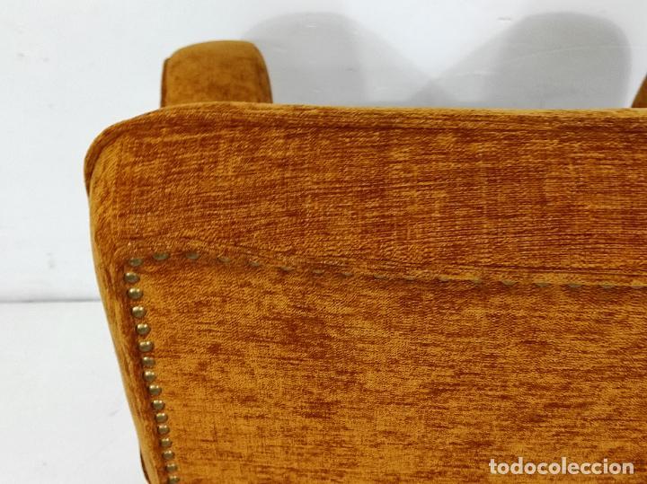 Antigüedades: Decorativo Tresillo - Sofá y Sillones - Tapicería Perfecta - Vintage - Años 50 - Foto 30 - 269220523