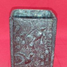 Antigüedades: VASO DE BRONCE FIRMADO SEMA. Lote 269225103