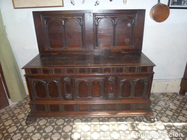 ARCÓN NOVIA ANTIGUO CON FRONTAL (Antigüedades - Muebles Antiguos - Baúles Antiguos)