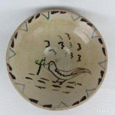 Antigüedades: CUENCO DE TERUEL EN VERDE, AZUL Y MANGANESO, SIGLO XIX. Lote 269237743