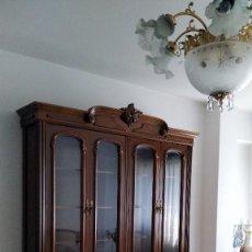Antigüedades: MUEBLE COMEDOR CON VITRINA. Lote 269242358