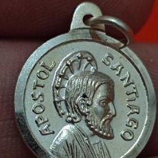 Antigüedades: SANTIAGO APOSTOL PLATA 925 MEDALLA AÑO SANTO 1999 2 CMS. Lote 269257463