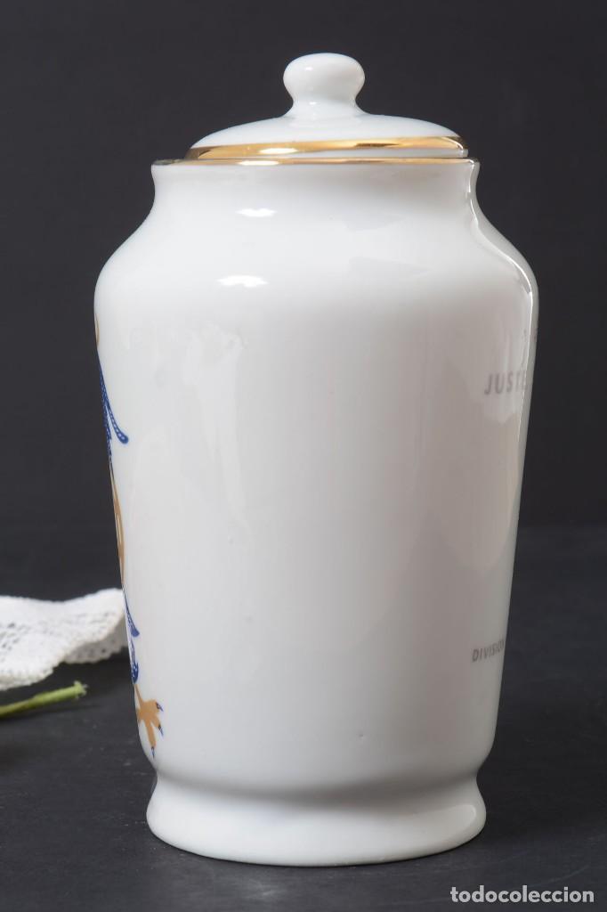 Antigüedades: Pequeño albarelo vintage de Dentijuste porcelana Santa Clara - Foto 5 - 269279838